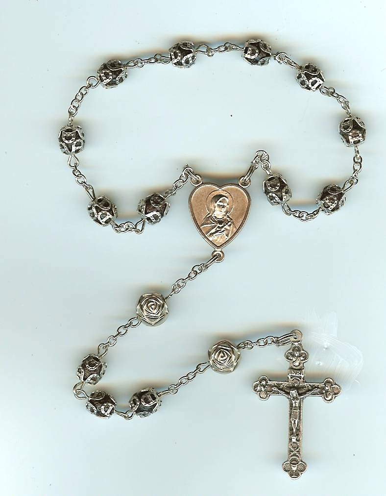 "#126S Silver - ""Keepsake Chaplet"" Traditional Beads - Click Image to Close"