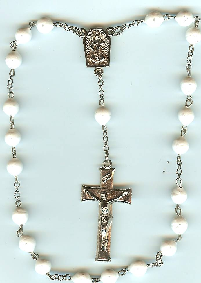 #106S Silver - Peace Rosary - NO CAPS